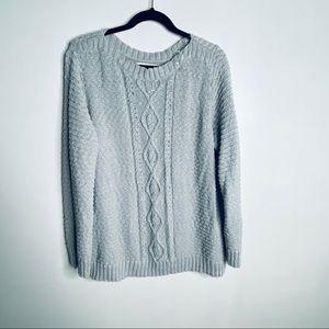 Jones New York Gray Cableknit Sweater